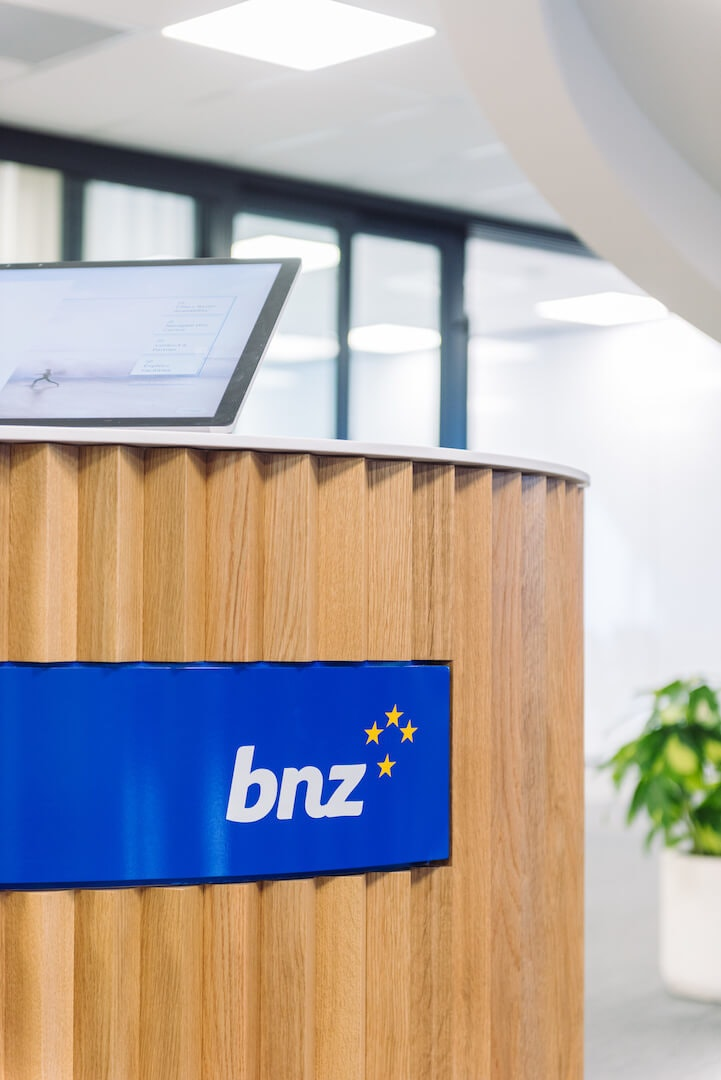 BNZ Method office recycling bins