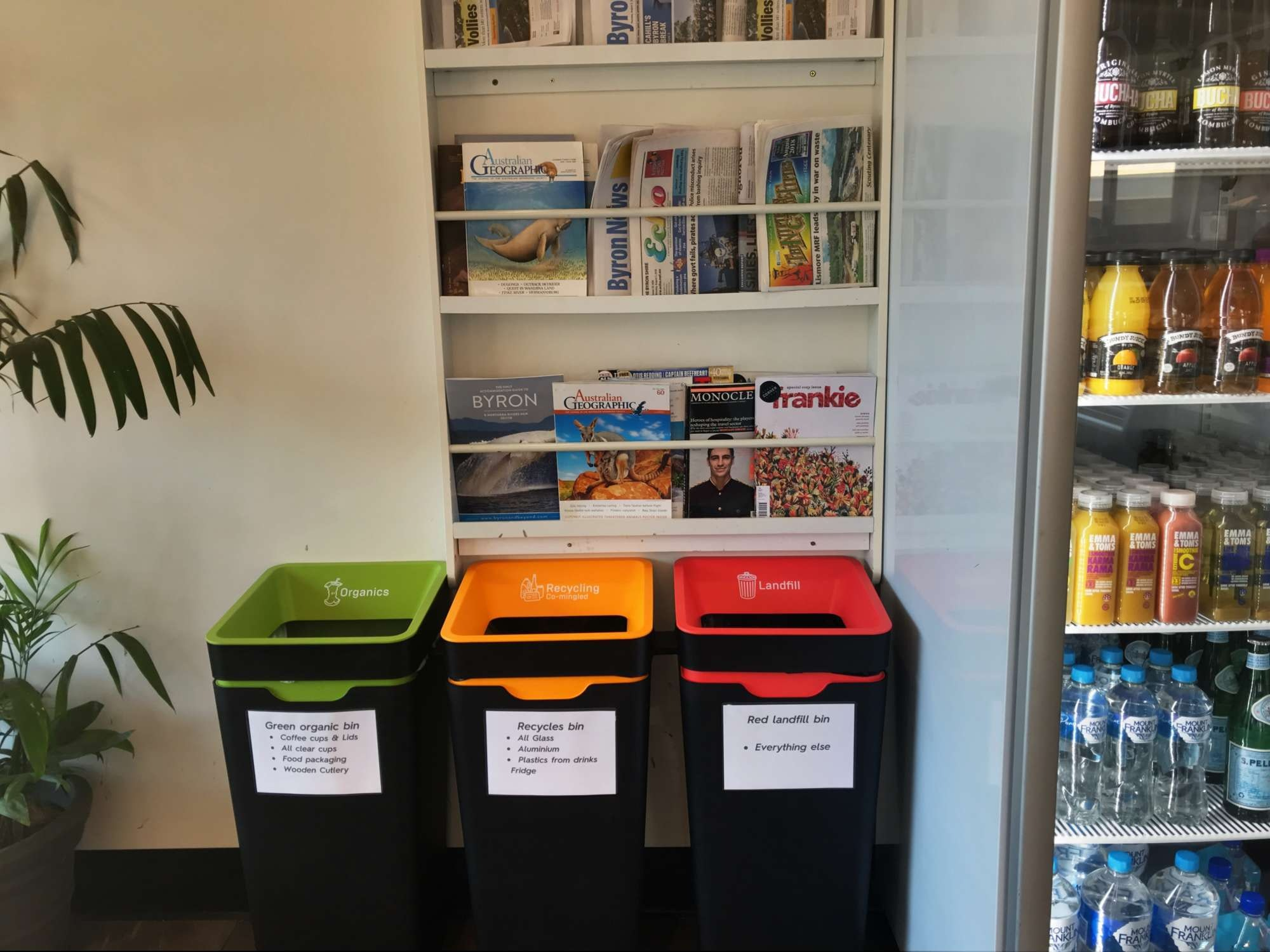 Byron Bay Corner Store Recycling Effective recycling solution