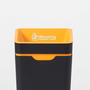 Method Office Recycling Bin - Amber Recycling Open
